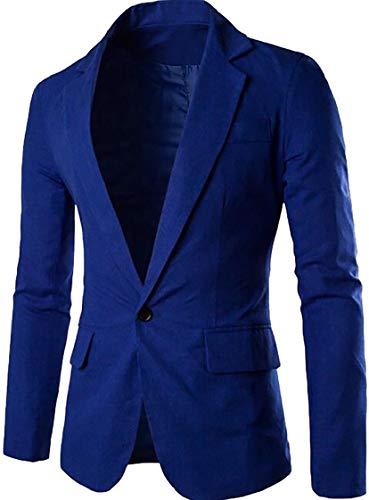 Sottili Affari Del Moda Del Degli Alla Rivestimento Gocgt Di Base Casuali Misura Tasto Vestito Un Uomini Sportive Giacche Blu Cappotto Royal Di OFqa0wxq