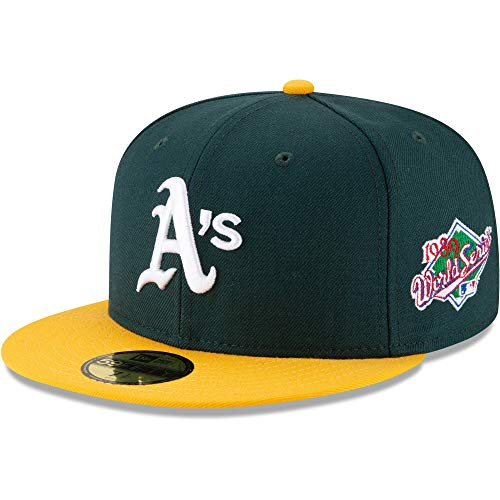New Era Men's Oakland Athletics Green 1989 World Series Wool 59FIFTY Fitted Hat