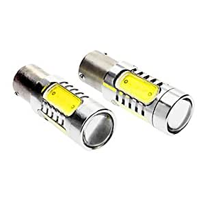 OXOX BAU15S 7W 330-380LM 6000-6500K Luz del coche Luz blanca 5-LED de direcci¨®n / frenos (DC 12-24V, 1 par)