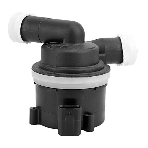 Qiilu Additional Water Pump, Black Metal ABS Auxiliary Coolant Water Pump for 03L965561A: