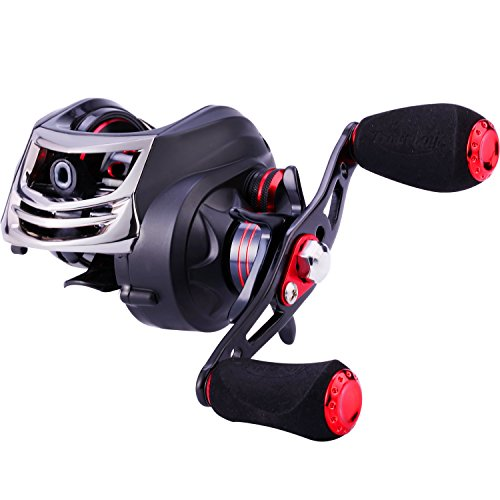 (TROUTBOY Fishing Reel - CNC Machined Aluminum Spool -11+1 Shielded Bearings - Magnetic Tuned Brakes Baitcasting Reels for Bass Casting Fishing)