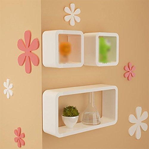 Shelf TV Background Wall Decorative Baffle Creative Lattice Wall Rack Simple Wallcover Wall Cabinet Bookcase by Shelf