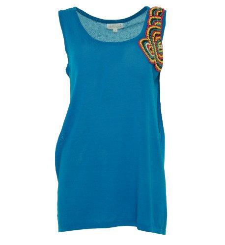 Joseph A Women's Beaded Sleeveless Shirt Tropics M
