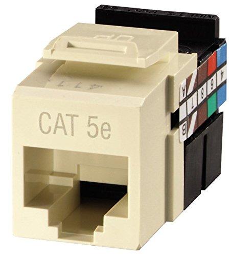 Leviton CAT 61110-RT6 eXtreme 6+ QuickPort Connector - Modular insert - RJ-45 - light almond
