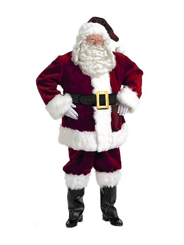 Santa Claus Suit Halco Majestic Royal Deluxe Large (Chest: 42