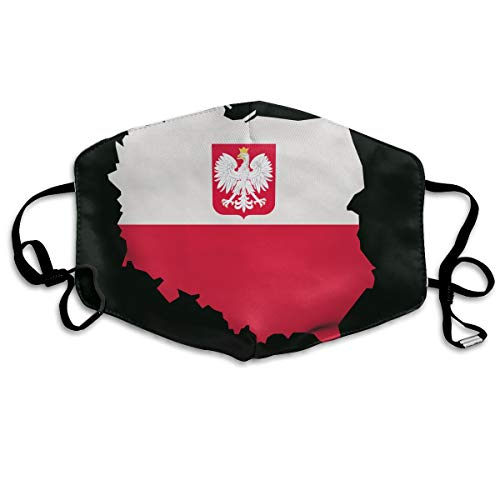 Map of Poland National Flag Mouth Mask