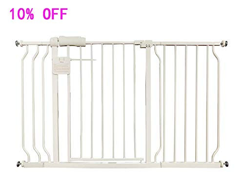 Fairy Baby Extra Wide Baby Gate with Extensions for Stairs Walk Through Easy Auto Close Child Pets Safety Gate,Fits Spaces Between 43.3