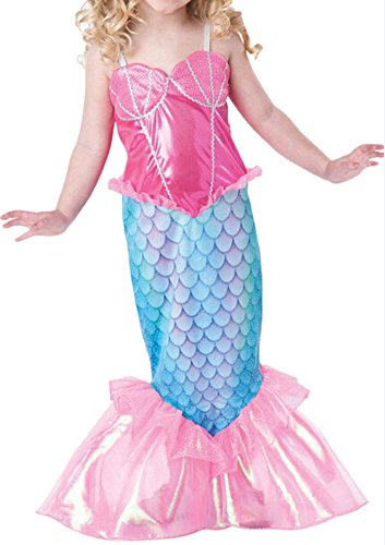 1a32f7502e0e8 Happyハッピー耳 子供服 女の子 人魚姫ドレス マーメイドワンピース おしゃれ ハロウィン衣装 演劇衣装