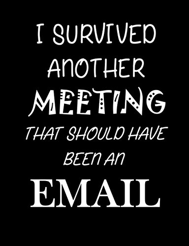 I Survived Another Meeting That Should Have Been An Email: Journal, diary, note pad, funny notebook, gag gift. (Gag Gifts)
