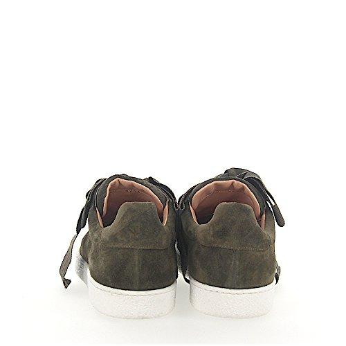 Sneaker Unützer 8254 Fiocco In Tessuto Scamosciato Kaki