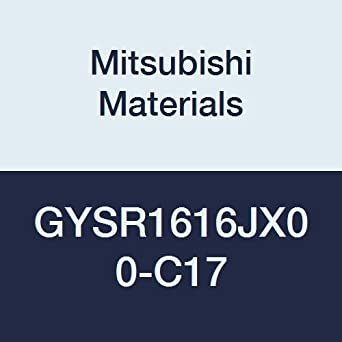 120 mm Length 16 mm Width Right Hand Mitsubishi Materials GYSR1616JX00-C17 GY Mono Block External Grooving Holder for Small Lathe 16 mm Height 1.50 mm Seat 17 mm Grooving Depth 0/° Angle