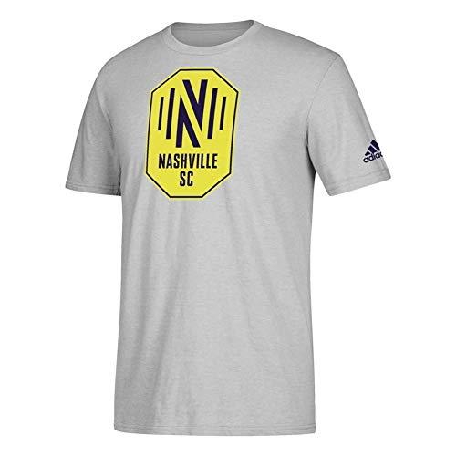 (adidas Nashville SC Locker Room Tee Squad Logo Tshirt (Large))