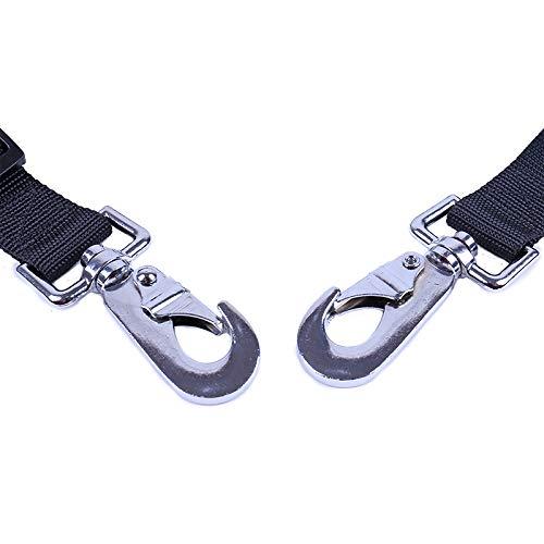 SONGQISB Cintur/ón de Seguridad Ajustable Doble Correa de sujeci/ón para Mascotas arn/és de Nylon Suministros para Mascotas de Seguridad