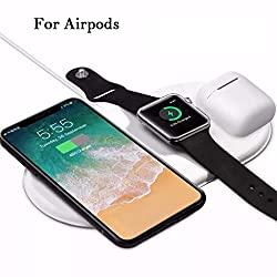 UMei 3 in 1 Qi Wireless Charger Holder Fashion Charging Dock Pad Wireless Charging Stand Compatible with iPhone XS