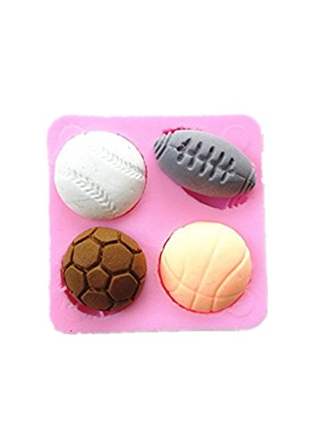 Thanksgiving Candy Mold Chocolate - Efivs Arts EA535 4 Balls Shaped Silicone Mold for Chocolate Jelly and Candy Cake Decorantion
