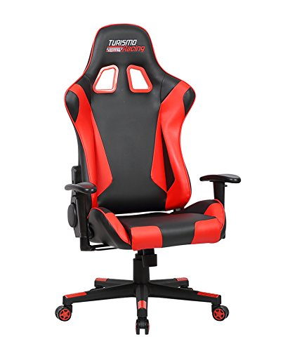 41FEeBoicOL - Turismo-Racing-Ancora-Series-Gaming-Chair-Black-and-Red-Ergonomic-Gaming-Bucket-Lumbar-Support-Executive-Computer
