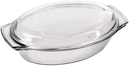 Marinex 1 7 Quart Small Oval Casserole With Lid Amazon Co Uk Kitchen Home