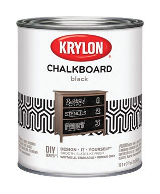 Krylon K05223000 Chalkboard Brush-on Paint Black, 1 Quart, (Pack of 2)