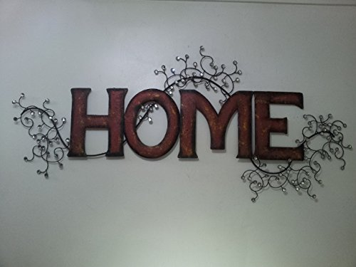 Contemporary Metal Wall Art Red And Gold Home