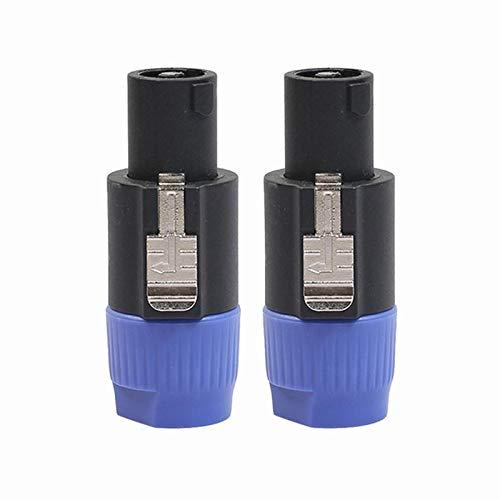 Speakon 4 Pole Line - 2pcs 4-Pole Male Speakon Connector Head Line Plug Speaker Audio Connector for Cable NEUTRIK NL4FC