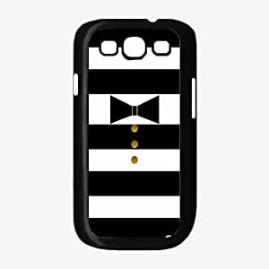 Bow Tie and Gold Buttons Plastic Phone Case Back Cover Samsung Galaxy S3 I9300