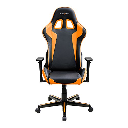 DXRacer Formula Series DOH/FH00/NO Newedge Edition Racing Bucket Seat Office Chair Gaming Chair Ergonomic Computer Chair eSports Desk Chair Executive Chair Furniture With Pillows (Black/Orange)