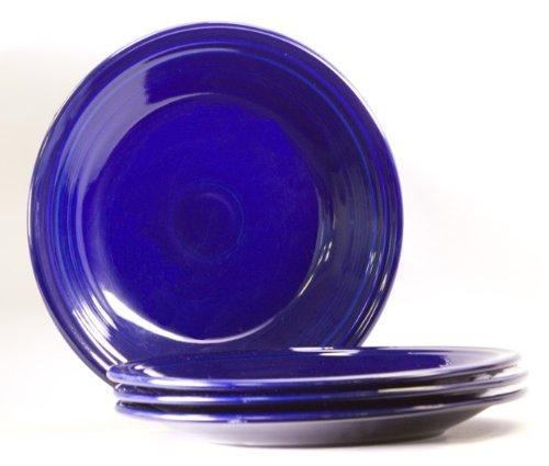 Fiesta 10-1/2-Inch Dinner Plate, Cobalt, Set of 4 (Fiesta Blue Plate Cobalt)