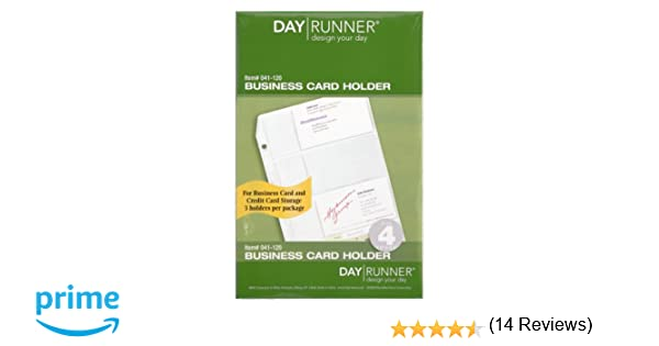 Amazon.com : Day Runner Top-Loading Business Card Holder, Clear, 5.5 x 8.5 Inches (041-120) : Refills Business Card : Office Products