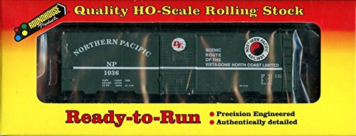 Roundhouse 1:87 HO Scale Ready-to-Run 40' AAR Box Car Northern Pacific #20417 ()