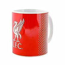 Liverpool FC Official Fade Crest Design Ceramic Mug (One Size) (Red)