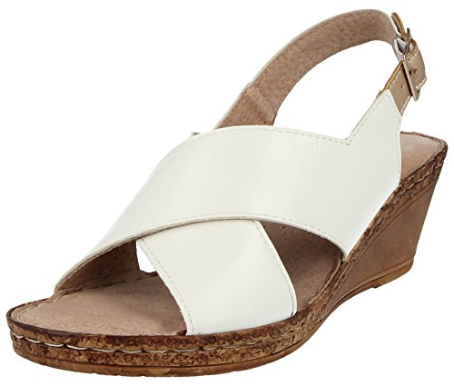 Chaussures 5 Walk compensées White Pointure cuir A03 Sandales larges 68x8ZXIwq