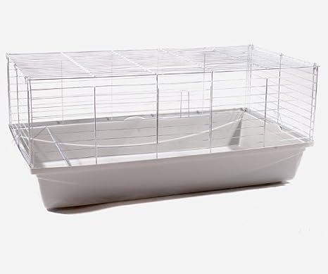 Conejo jaula jaula cobaya Animales Pequeños Rabbit 100 gris claro ...