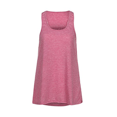 Corriee Womens Casual Solid Color Cotton Tank Blouse Sleeveless Sport Vest Yoga Tee Shirts Ladies Summer Top Pink by Corriee (Image #1)