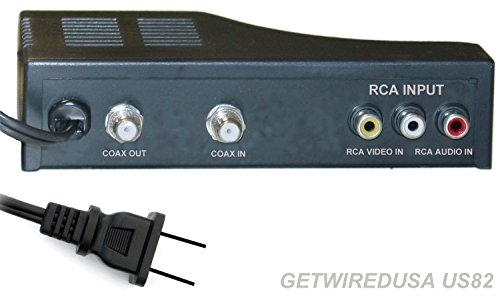 Rf Modulator Rca Coax Cable Adapter Tv Av Coaxial