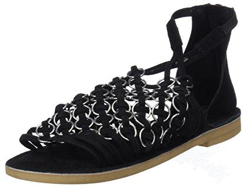 MUSSE & CLOUD Women's Brianne Open Toe Sandals Black (Blk 000) hekfeDdU
