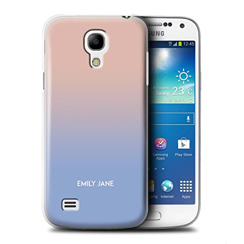Personalized Custom Ombre Colours Case for Samsung Galaxy S4 Mini/Rose Gold/Pastel Purple Design/Initial/Name/Text DIY Cover