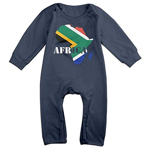 Mri-le1 Baby Boy Long Sleeved Coveralls Africa Map Baby Rompers by Mri-le1