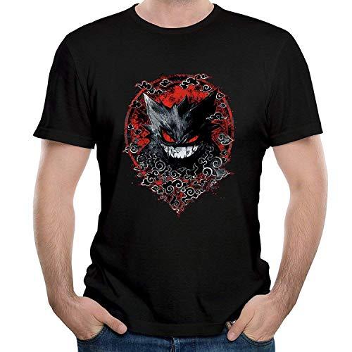 LSalas T-Shirts for Men's Ghastley Haunter Gengar T Shirts Black,Medium,Black
