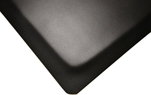 Rhino Mats HDT24X12DS/SS Extra Thick HDT, Heavy Duty Top Anti-Fatigue Mat, Vinyl, 1.38'' Thickness, Black by Rhino Mats