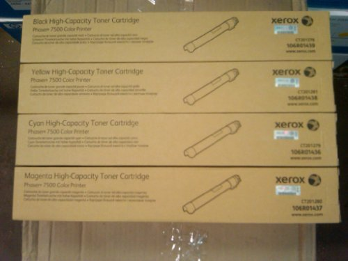 Xerox Xerox Phaser 7500 Toner Cartridge (Cyan,1-Pack) by Xerox