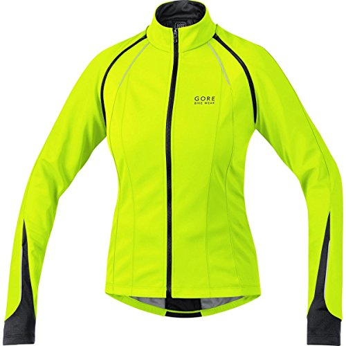 GORE BIKE WEAR 3 in 1 Women's Soft Shell Road Cycling Jacket, GORE WINDSTOPPER, PHANTOM LADY 2.0 WS SO Jacket, Size S, Neon Yellow/Black, JWPHAL