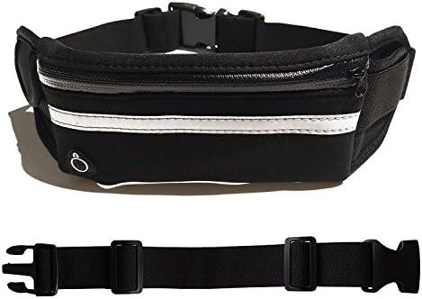 Waist Pack Belt Pouch Waistband Cell Phone Sports Fitness Bag Breathable Reflective Zipper Pocket