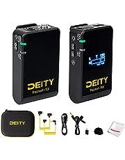 Deity Pocket Wireless 2,4 GHz draadloos microfoonsysteem met gedraaid OLED-display, 1 zender en 1 ontvanger voor DSLR, videocamera, laptop, pc, smartphone (zwart)