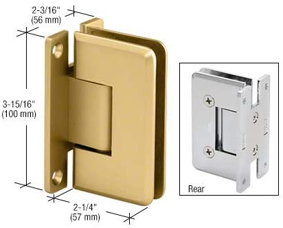 CRL Cologne 037 Series Brushed Nickel Wall Mount Shower Door Hinge