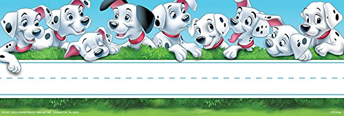 "Eureka 101 Dalmatians Name Plates, includes 36 self-adhesive name plates, measuring 9.5"" x 3.25"""
