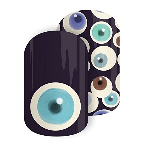 Jamberry Nail Wraps - All Eyes On You - HALF SHEET - Holiday - Limited Edition -