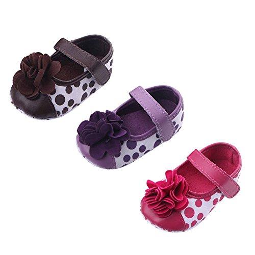 exiu Toddler Zapatos de bebé niñas flores lunares suave Cuna Princesa zapatos 0–