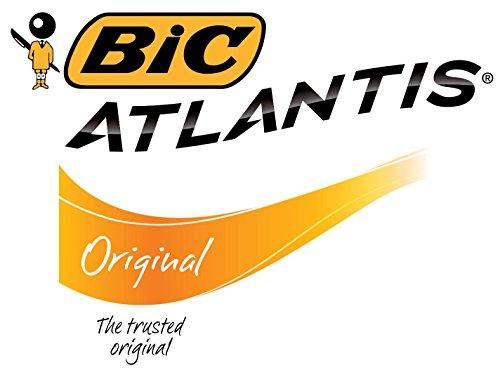 BIC VCG11-RED Atlantis Original Retractable Ball Pen, Medium Point (1.0 mm), Red, 12-Count