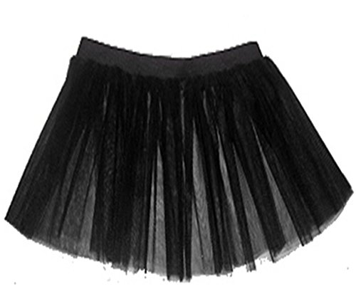 A-Express Femme Adulte 3 couches Fluo Non Tutu Jupe Partie Dguisement Noir