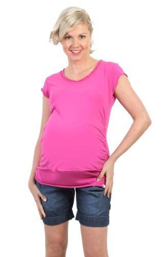 Be! Mama - Camiseta de maternidad para mujer/maternidad de color rosa de talla 36/38